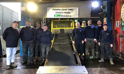 CM Shredders helped British end-of-life tire collector CEL produce over 250,000 tons of TDF