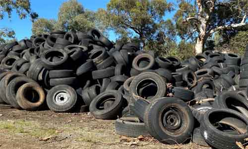 End-of-life tires illegally dumped at private property in Perth leaving one owner with $100,000 clean-up bill