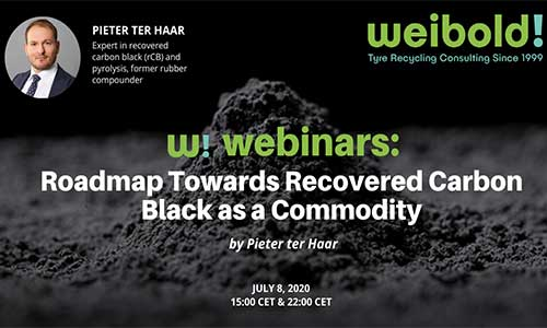 Join Weibold's webinars about tire recycling & pyrolysis business in July 2020