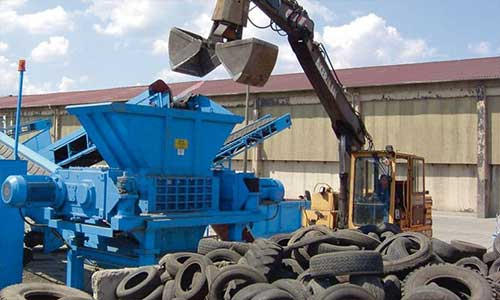 Mobile tire shredder with recirculation system urgently wanted in UAE